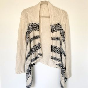 Delia's Cream Cardigan Aztec Print Sweater Size XS